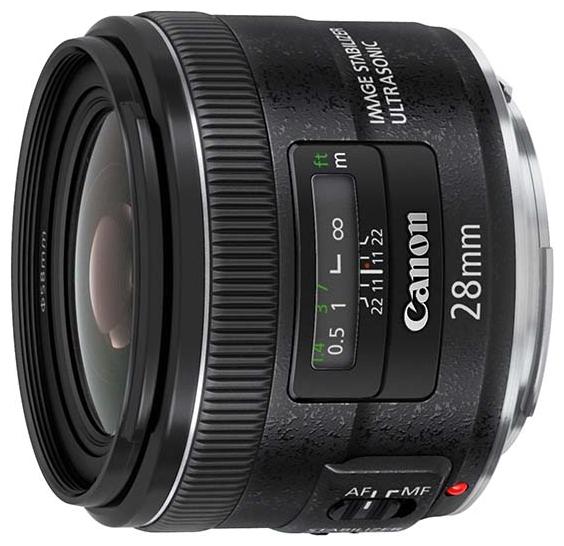Canon EF 28mm f/2.8 IS USM (5179B005) - широкоугольный; ФР • фиксированное; F2.80 • Автофокус есть.