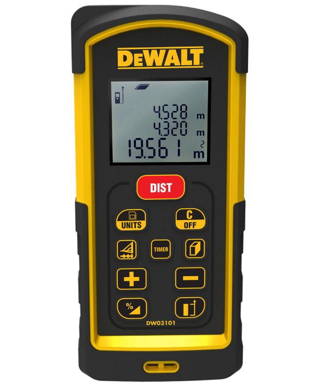 DeWalt DW 03101, лазерный - Лазерный; класс лазера 2 (635 нм); дальность 100 м (1 - 2 мм, но не более 0.1 - 0.2 мм/м (точность зависит