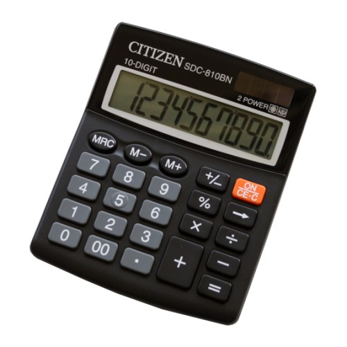 Калькулятор Citizen SDC-810BN 10-разрядный, black