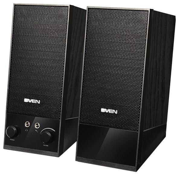Sven SPS-604, black - (4 Вт; 90-20000 Гц; полос 1; корпус - MDF; питание от USB-порта)
