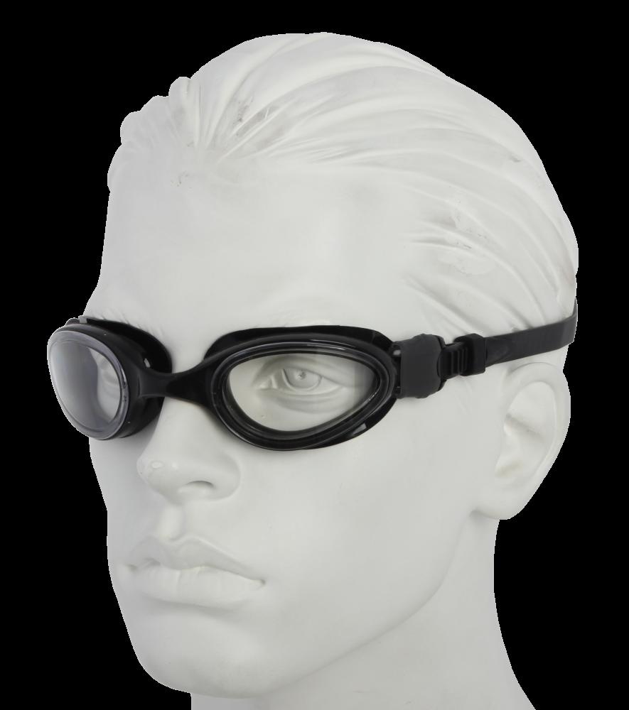 Очки плавательные Larsen S1201 черный (пвх+поликарбонат)