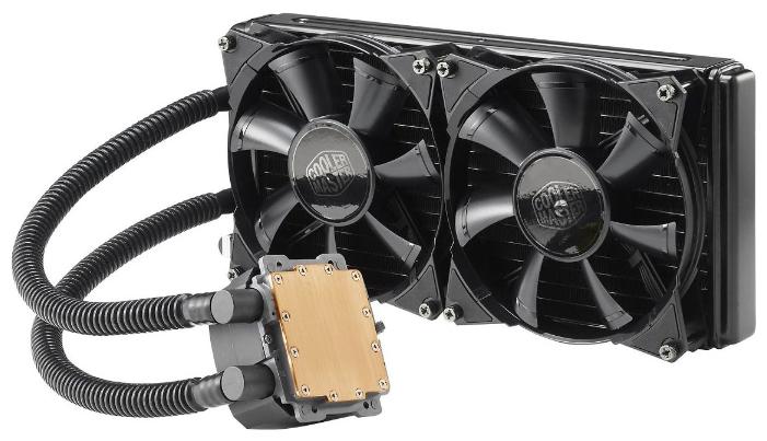 Cooler Master Nepton 280L - для процессора; вентиляторов 2 (140x140x25 мм); 800 - 2000 об/мин; радиатор - алюминий • S775, S1150/1151