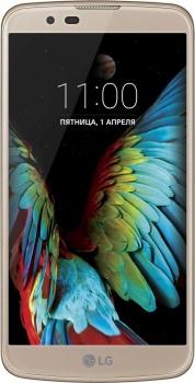 LG K10 K430 DS 16 Gb LTE Gold - (; GSM 900/1800/1900, 3G, 4G LTE; SIM-карт 2; MediaTek MT6753, 1140 МГц; RAM 1.50 Гб; ROM 16 Гб; 2300 мА?ч; 13 млн пикс., светодиодная вспышка; есть, 5 млн пикс.)