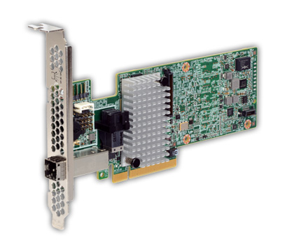 Avago MegaRAID SAS 9380-4i4e (05-25190-02) - RAID-контроллер (RAID 0, 1, 10, 5, 50, 6, 60); PCI Express 3.0 x8; снаружи 1x SFF-8643