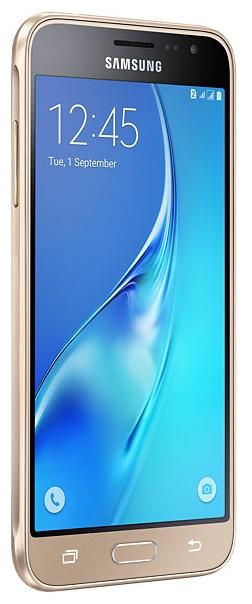 SAMSUNG Galaxy J3 (2016) SM-J320F Gold - (Android; GSM 900/1800/1900, 3G, 4G LTE; SIM-карт 2 (Micro SIM); 1500 МГц; RAM 1.50 Гб; ROM 8 Гб; 2600 мА?ч; 8 млн пикс., светодиодная вспышка; есть, 5 млн пикс.; датчики - приближения)