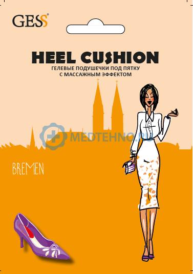 Гелевые подушечки Gess Heel Cushion, с массажным эффектом
