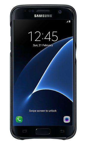 Samsung для Samsung Galaxy S7 Leather Cover, black - (для Samsung Galaxy S7; Кожа)