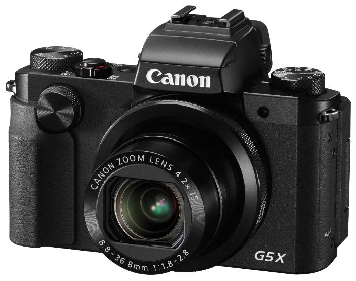 Canon PowerShot G5 X Black - (20.9 млн, оптический zoom: 4.20x, 1920x1080, 5.9 кадр./сек, ЖК-экран: поворотный, сенсорный, 1040000 точек, 3 дюйма)