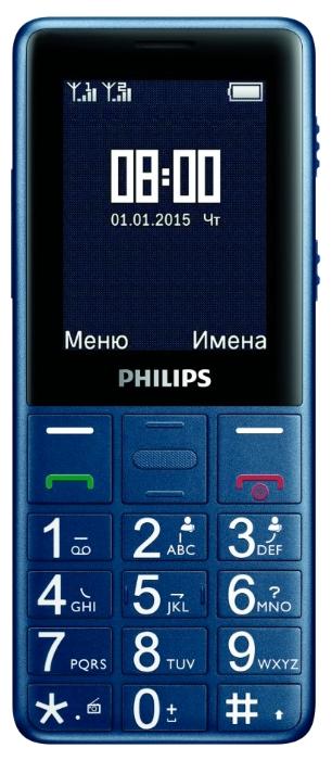 Philips Xenium E311, Dark Blue - (телефон; SIM 2; экран 2.4 дюйм. (320x240) • 1530 мАч; USB; microSD (TransFlash), объемом до 32 Гб)