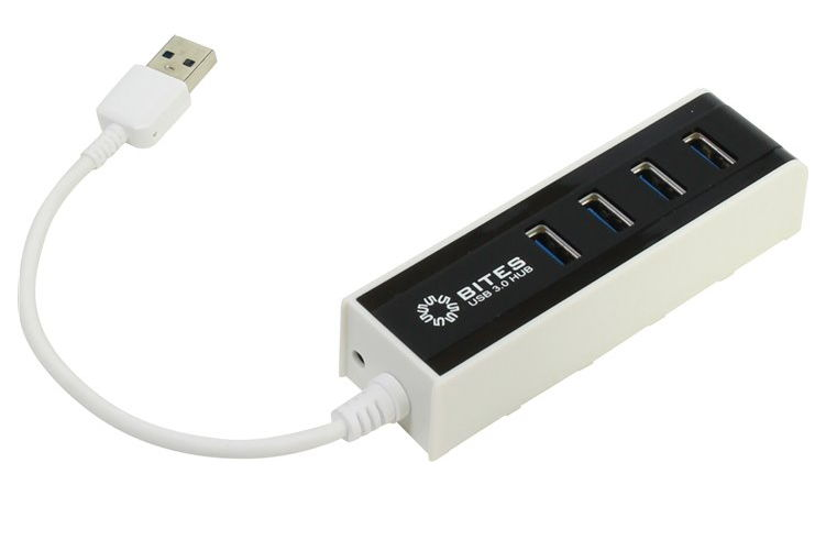 USB-хаб 5bites HB34-306BK, White black