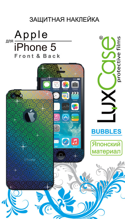 �������� ������ LuxCase ��� Apple iPhone 5/5S F&B, Bubbles 80286