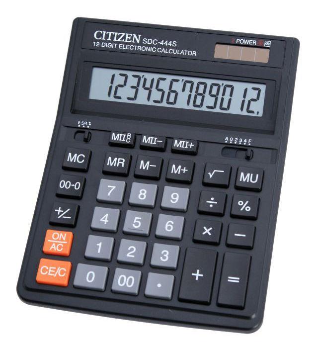 Калькулятор Citizen SDC-444S чёрный