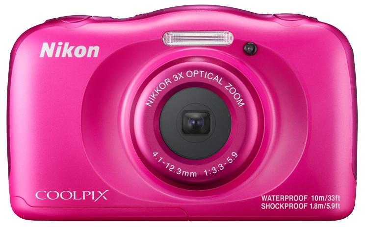Nikon Coolpix W100 pink - (14.17 млн, оптический zoom: 3x, 1920x1080, 230000 точек, 2.70 дюйма)