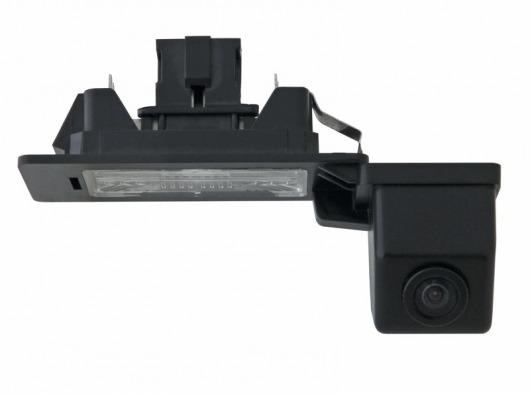 Incar VDC-050 для Audi A4L (2009-2012) ,A5 (2011-2012) - Установка - вместо штатной подсветки номерного знака; Соединение проводное