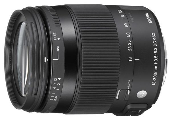 Sigma AF 18-200mm f/3.5-6.3 DC MACRO OS HSM для Canon - стандартный Zoom; ФР 18 - 200 мм; ZOOM 11.1x; F3.50 - F6.30 • Автофокус есть