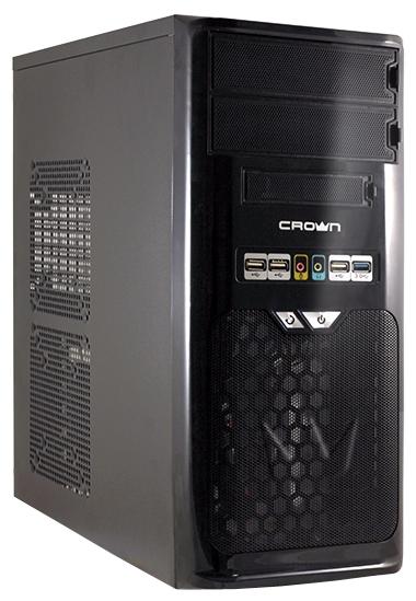 Корпус для компьютера Crown CMC-SM603 500W - чёрный, ATX/mATX, midi-Tower, 5.25''x2, 3.5''x3, 2.5''x2, блок питания 500 Вт, USB3.0