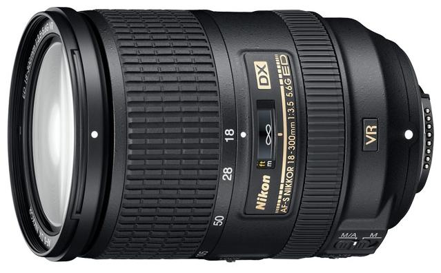 Nikon 18-300mm f/3.5-5.6G ED AF-S VR DX - (стандартный Zoom; ФР 18 - 300 мм; ZOOM 16.7x; F3.50 - F5.60 • Автофокус есть. • Неполнокадровый да)