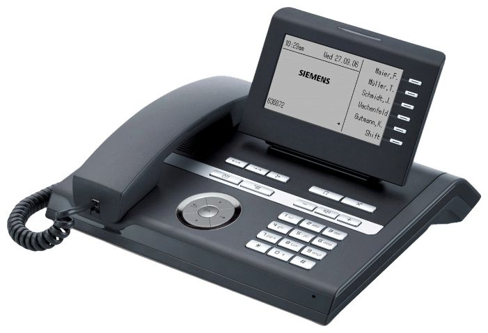 VoIP-телефон Siemens OpenStage 40, black, WAN, LAN, есть определитель номера L30250-F600-C247