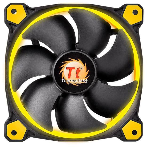 Вентилятор корпусной Thermaltake Riing 12 LED Yellow CL-F038-PL12YL-A