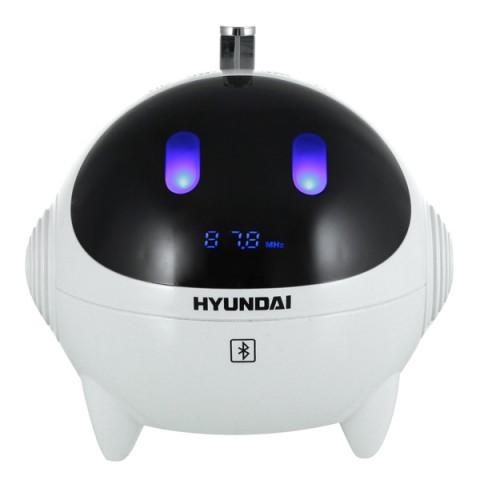 Радиобудильник Hyundai H-1634UB white/blue