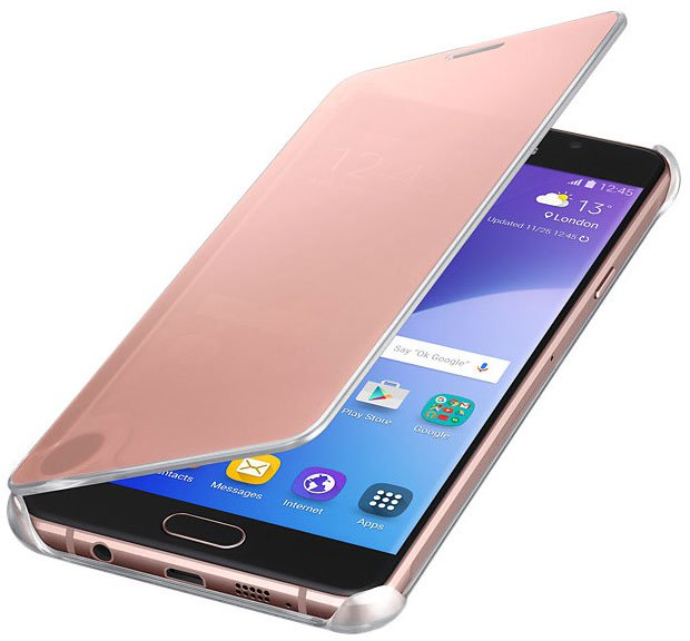 ����� Samsung ��� Samsung Galaxy A7 (2016) Clear View Cover pink/gold