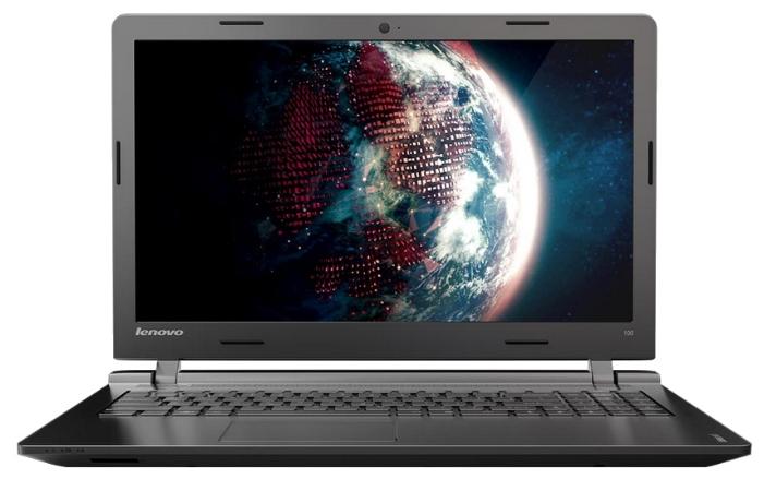 Lenovo IdeaPad 100 15 (80MJ00E6RK), Black - (Celeron N2840 2160 МГц. Экран 15.6 дюймов, 1366x768, широкоформатный. ОЗУ 2 Гб DDR3L 1333 МГц. Накопители HDD 500 Гб; DVD-RW. GPU Intel GMA HD. ОС)