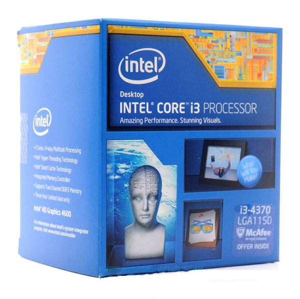 Процессор Intel Core i3-4370 Haswell (3800MHz, LGA1150, L3 4096Kb), BOX