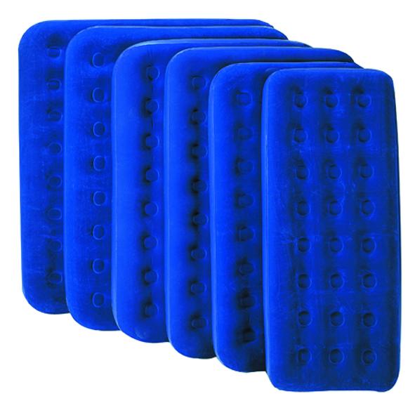 Кровать надувная Bestway 1 местн. флок 67000 синий 185х76х22см