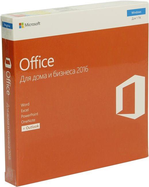 MS Office для дома и бизнеса 2016 (русский, DVD), Box - Пакет офисных приложений; лицензия - на 1 устройство; период - не ограничен