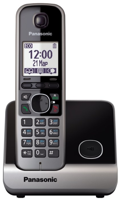 Радиотелефон DECT Panasonic KX-TG6711RUB Black