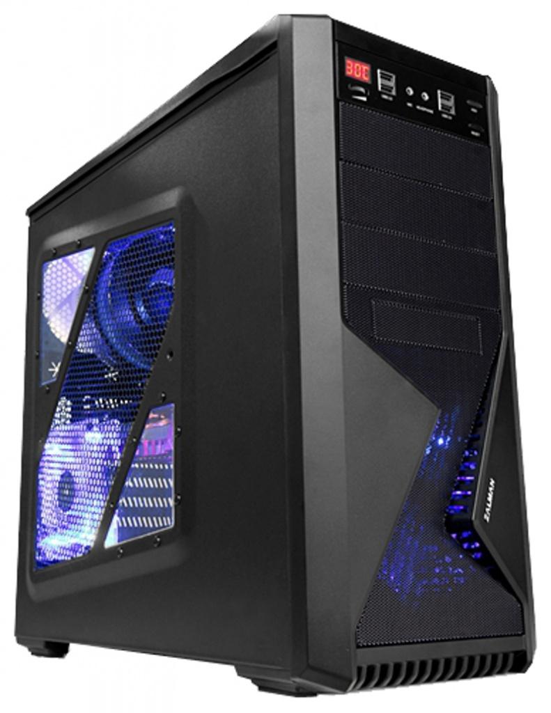 """Zalman Z9 Plus Black - Middle Tower • ATX, mATX • БП нет • Отсеки: 5.25""""-3, 3.5""""(внеш)-1; 3.5""""(внутр)-5;"""