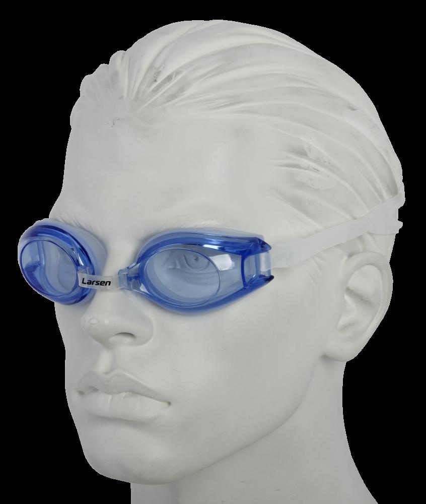 Очки плавательные Larsen R1281 синий (силикон)