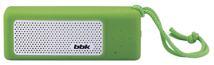 BBK BTA190 Green - моно; 20 - 20000 Гц; мощность 5 Вт; питание - от батарей, от USB; эл.питания - свой собственный BTA190 зелёная