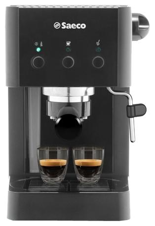 Saeco RI8329 - эспрессо, полуавтоматическое приготовление; кофе - молотый; нагреватель - бойлер; резервуар 1.25 л; рожок - металл;