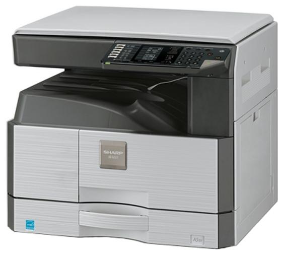 Sharp AR-6020 - ((принтер/сканер/копир); A3; черно-белая; печать 20 стр/мин (ч/б А4), 11 стр/мин (ч/б А3) • Печать на: карточках, пленках, этикетках, глянцевой бумаге, конвертах, матовой бумаге)