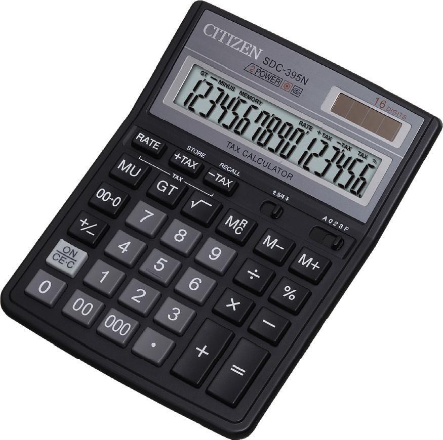 Калькулятор Citizen SDC-395 N чёрный SDC-395N