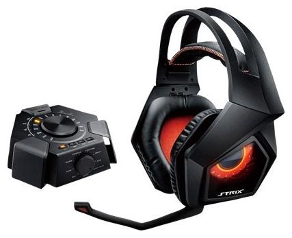 Asus Strix 7.1 Black - (Наушники: 20 - 20000 Гц; 32 Ом; полноразмерные; 40 мм. • Микрофон: есть; 50 - 16000 Гц; направленный. • Подключение: 1.5 м + 1.5 м; USB.)