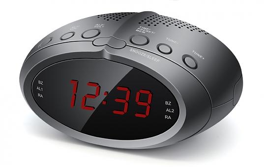 Rolsen CR-230, black - радиобудильник; FM, УКВ; настройка цифровая; питание от сети - есть 1-RLDB-CR-230
