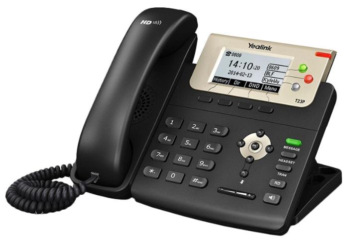 VoIP-телефон Yealink SIP-T23P, WAN, LAN, есть определитель номера
