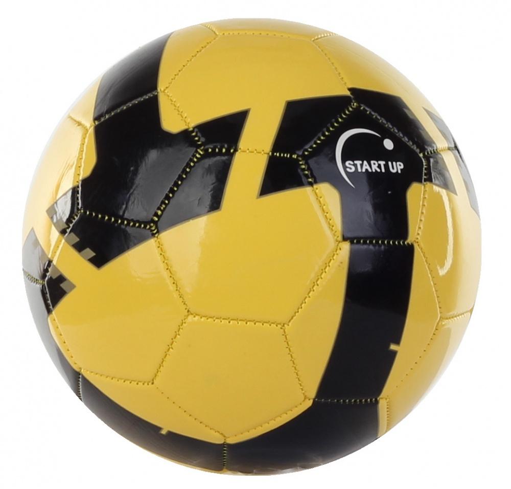 Мяч футбольный для отдыха Start Up E5125 черный/желтый р5