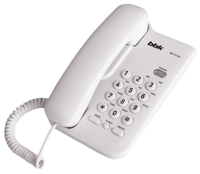 Проводной телефон BBK BKT-74 RU, White BKT-74 RU Белый