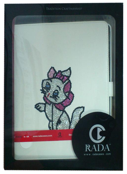 Футляр - книга Rada Cat для iPad 2/3 White