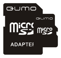 Карта памяти Qumo microSDHC class 4 8GB + SD adapter, Black