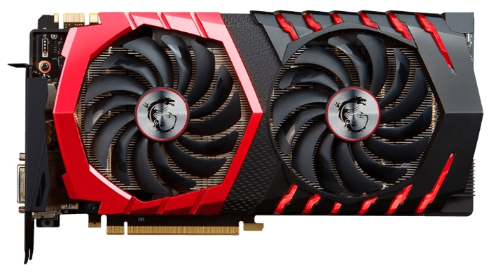 MSI GeForce GTX 1070 GAMING X 8G (8Gb GDDR5, DVI-D + HDMI + 3xDP) - NVIDIA GeForce GTX 1070, 16 нм, 1607 МГц (OC), boost 1797 МГц (OC),