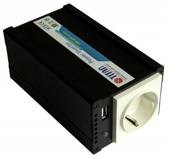 Адаптер питания Titan 12/ 220V 200W USB