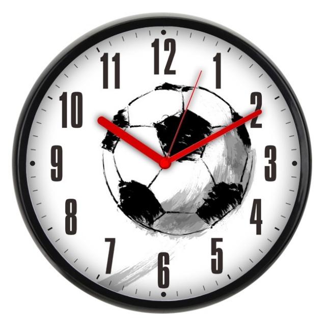 Часы настенные Бюрократ WallC-R29P, black-white WALLC-R29P/FOOTBALL