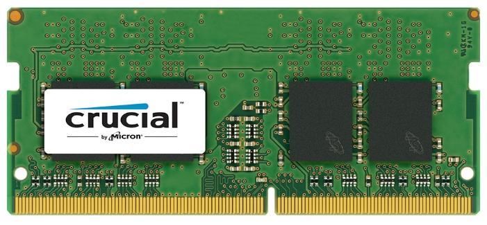 Crucial DDR-4 SODIMM 8Gb 2133MHz - 1 модуль 8 Гб; DDR4; SODIMM 260-контактный; 2133 МГц; 1.2 В • ECC - нет; Registered - нет • CL 15