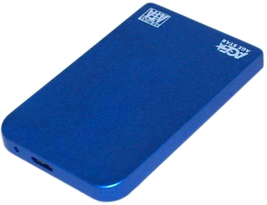 "AgeStar 3UB2O1, Blue - micro USB 3.0 (тип B) • Мест для накопителей - 1 (SATA III, 2.5"") 3UB201 Blue"