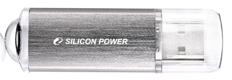 Флешка Silicon Power 32Gb Ultima II-I Series, silver SP032GBUF2M01V1S