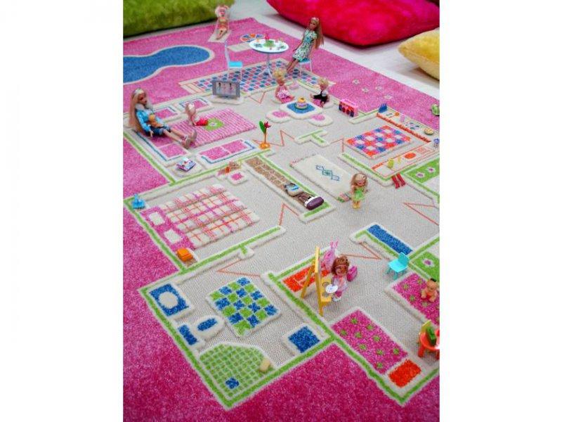 Игровой домик IVI Ковер pink
